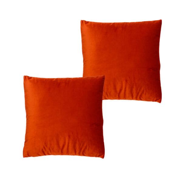 Cojines lisos naranja