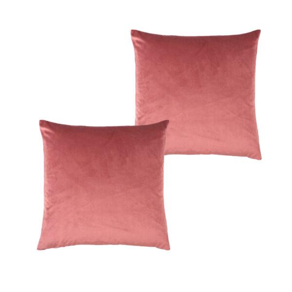 Cojines lisos rosa palo