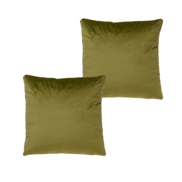 Cojines lisos verde