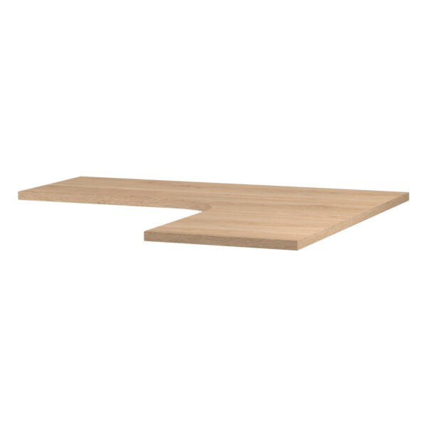 Tablero esquina para escritorio Start roble
