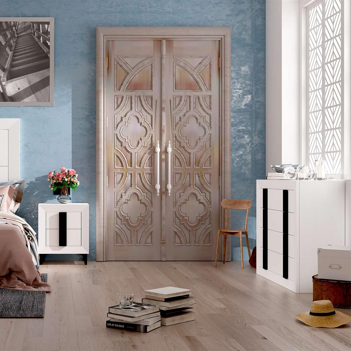 Dormitorio de matrimonio Viena 01 comoda