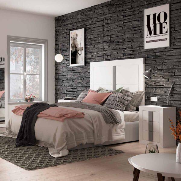 Dormitorio de matrimonio Viena 02 cabecero y 2 mesitas