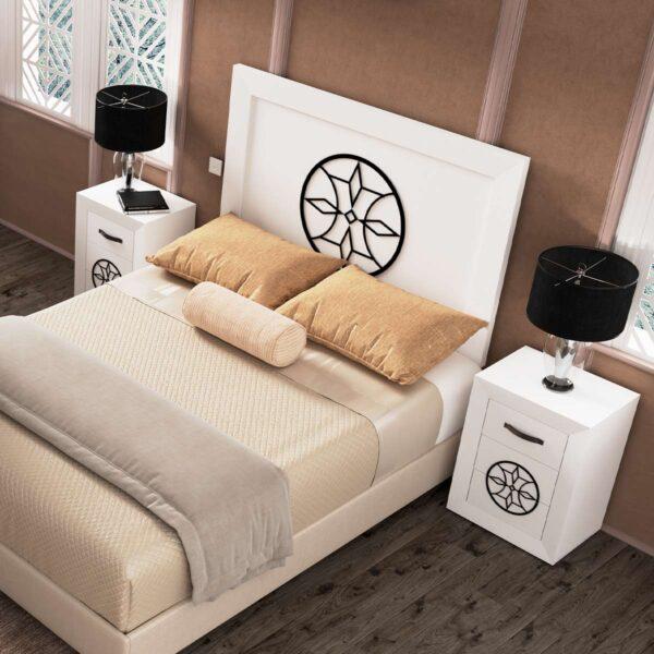 Dormitorio de matrimonio Viena 04 cabecero y 2 mesitas
