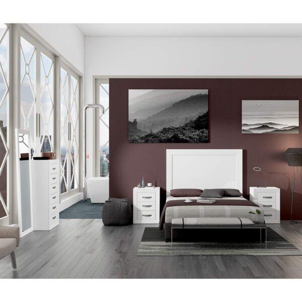 Dormitorio de matrimonio Viena 07 completo