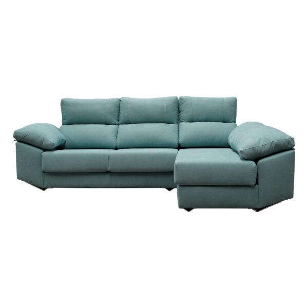 Sofa chaise longue Genova tela Celia 12 visto derecho inicio