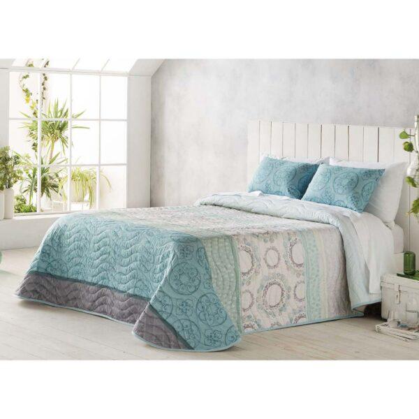 Colcha de cama Marea turquesa