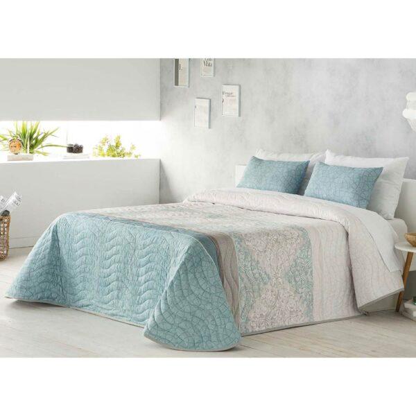 Colcha de cama Mica turquesa