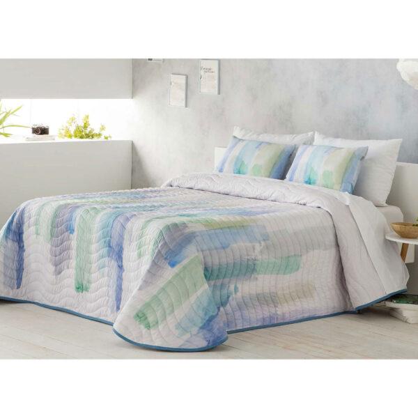 Colcha de cama Picaso azul