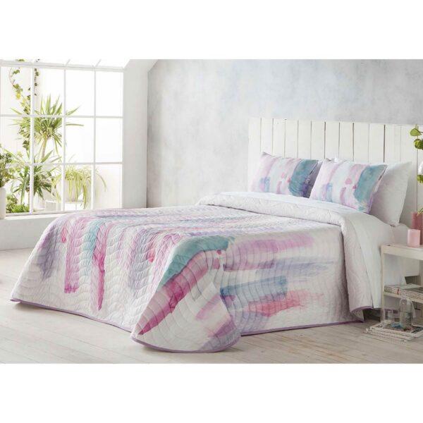 Colcha de cama Picaso rosa