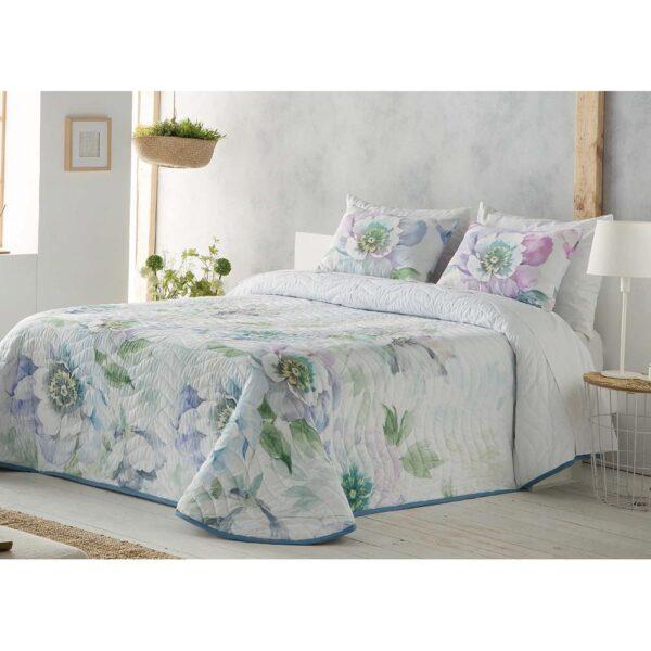 Colcha de cama Silvana azul