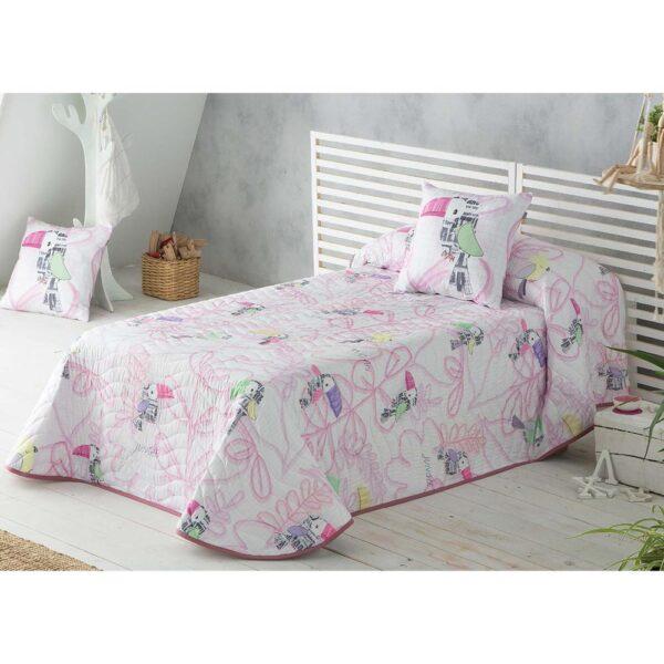 Colcha de cama Tucan rosa