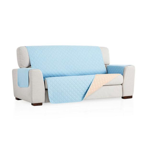 Cubre sofa Azul claro fondo blanco