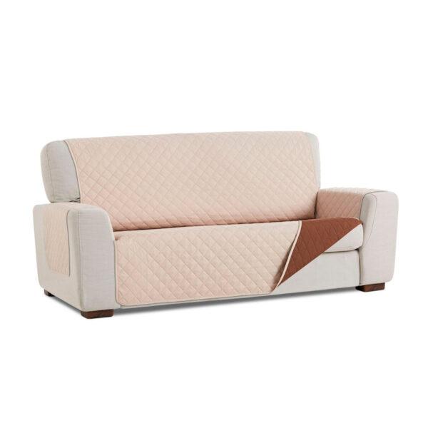 Cubre sofa Beige marron fondo blanco