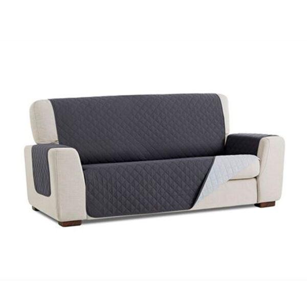 Cubre sofa Gris oscuro fondo blanco