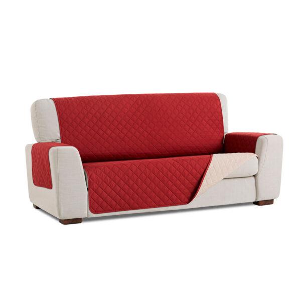 Cubre sofa Rojo fondo blanco
