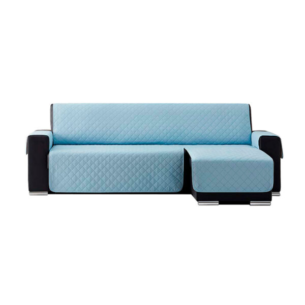 Cubre sofas chaiselongue Azul claro fondo blanco
