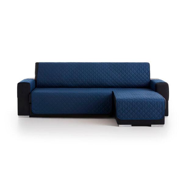 Cubre sofas chaiselongue Azul marino fondo blanco