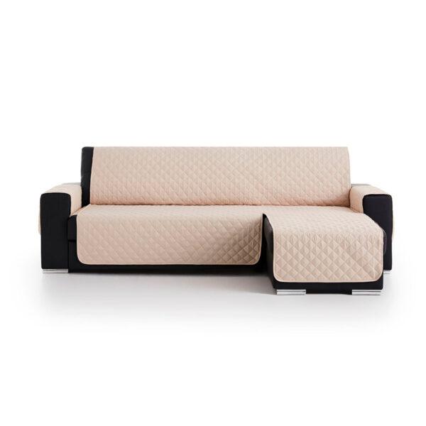 Cubre sofas chaiselongue Beige fondo blanco