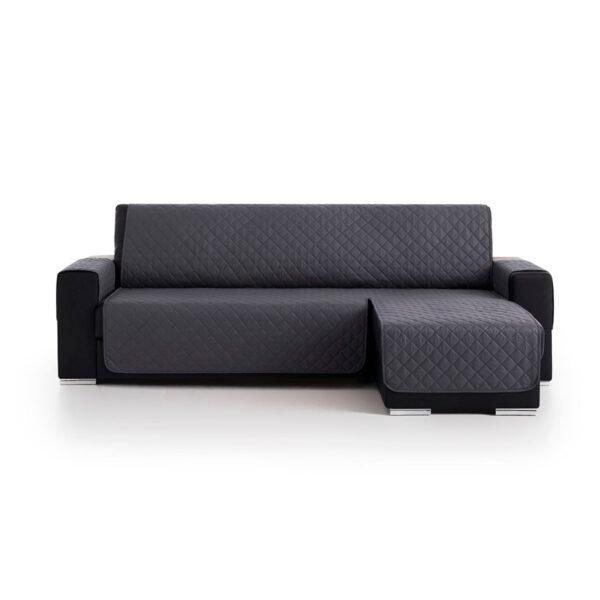 Cubre sofas chaiselongue Gris Oscurofondo blanco