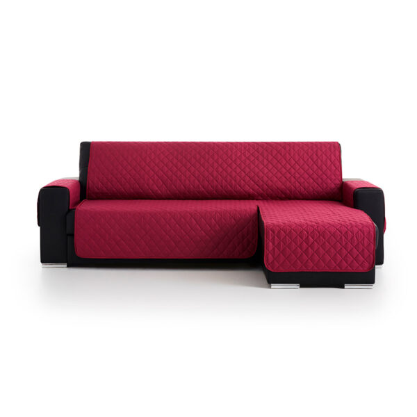 Cubre sofas chaiselongue Malva fondo blanco