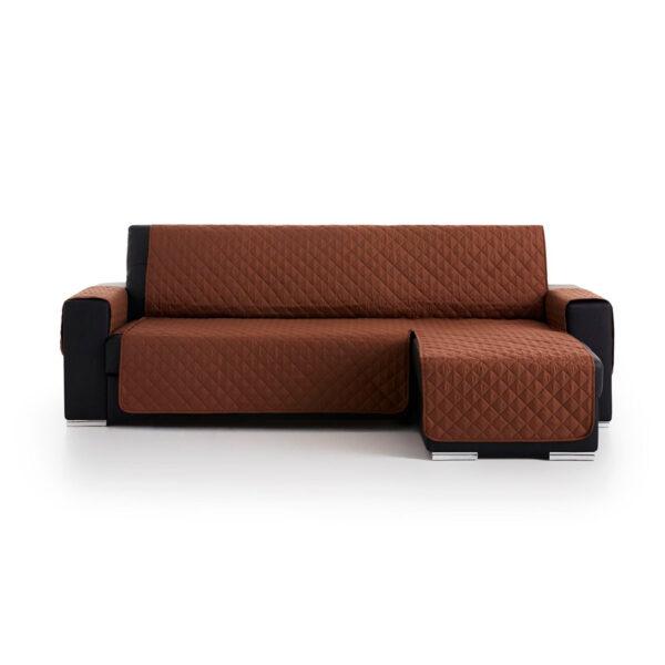 Cubre sofas chaiselongue Marron fondo blanco