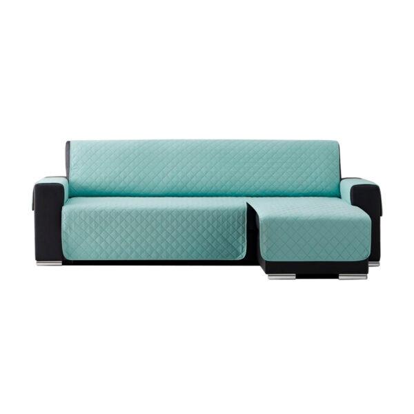 Cubre sofas chaiselongue Menta fondo blanco