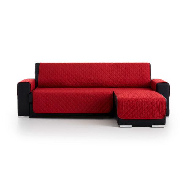 Cubre sofas chaiselongue Rojo fondo blanco