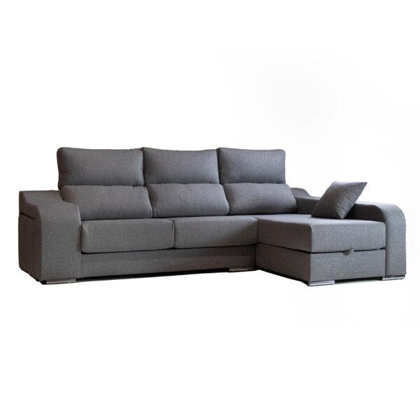 Sofa chaiselongue Atenas con puff