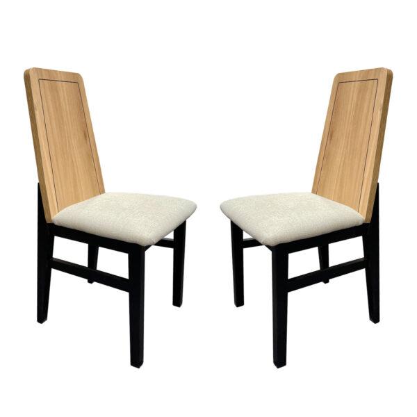 Juego de 2 sillas Roble Negro