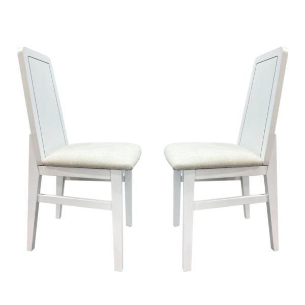 Juego de 2 sillas Nieve Blanco